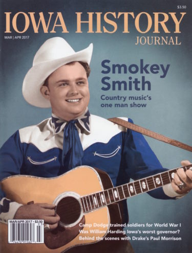 Smokey Smith, country music's one man show in a 1950s photo. Color illustration by Kathy Downing