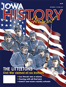 Few stories about the American Civil War are as heart-tugging, unique and relatively unknown (until now) as that of the six Littleton brothers from Louisa County, Iowa, all of whom died as the result of their military service during the Civil War. Writer John Busbee explores their fascinating story, augmented by exclusive artwork created by Iowa City artist Will Thomson. Cover design by Dug Campbell.