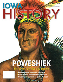 "On the cover: No photographs of Chief Poweshiek are thought to exist, but this painting, in Thomas McKenney and James Hall's ""History of the Indian Tribes of North America"" is the most iconic image of the legendary Meskwaki chief."