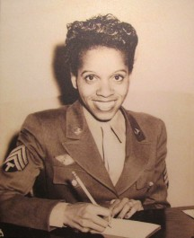 Edna Griffin, pictured in her uniform, served in the Women's Army Corps at Fort Des Moines during World War II. Photo courtesy of the Fort Des Moines Museum and Education Center