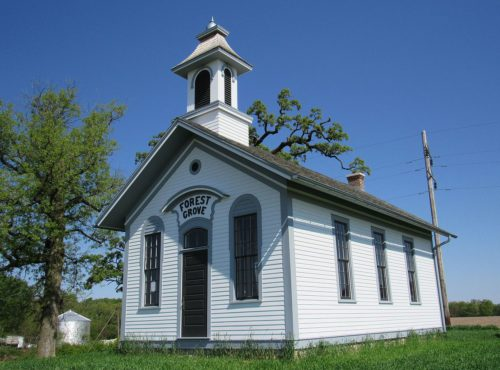 Forest Grove No. 5, was the first school restoration in Iowa to be partially funded with state tax credits. The eastern Iowa school has been listed on the National Register of Historic Places. Photo by Sharon Andresen