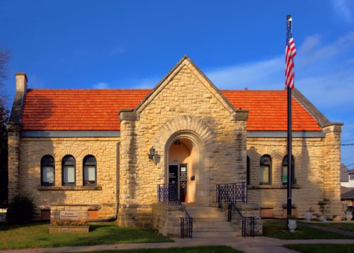 In 1983, the former Anamosa Library was listed on the National Register of Historic Places. It now houses the town's police department. Photo by Kevin Schuchmann